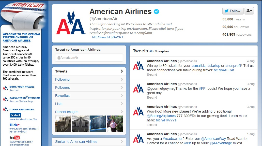 American Airlines Social Media's Approach | PR Pret-a-Porter